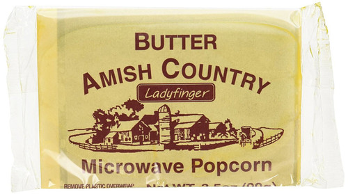 Amish Country Microwave Popcorn 10 Ladyfinger Butter Flavor