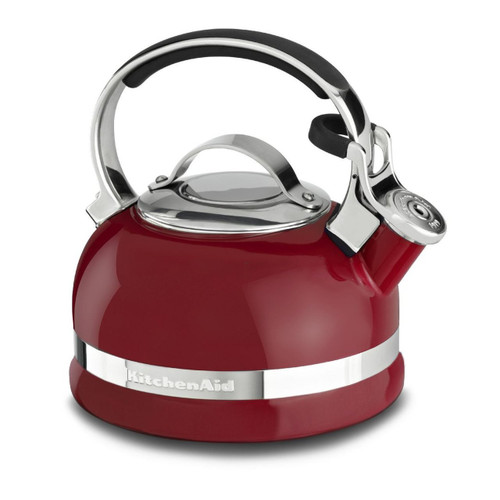 KitchenAid KTEN20SBER 2.0-Quart Kettle with Full Stainless Steel Handle and Trim Band - Empire Red