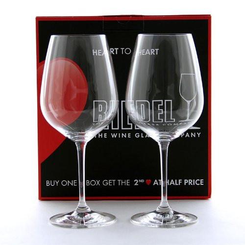 Riedel 6409/0 Heart To Heart Non-leaded Cabernet Sauvignon Wine Glasses, Set of 2