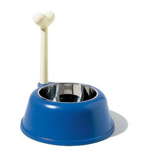 A di Alessi Lupita Dog Bowl, Blue