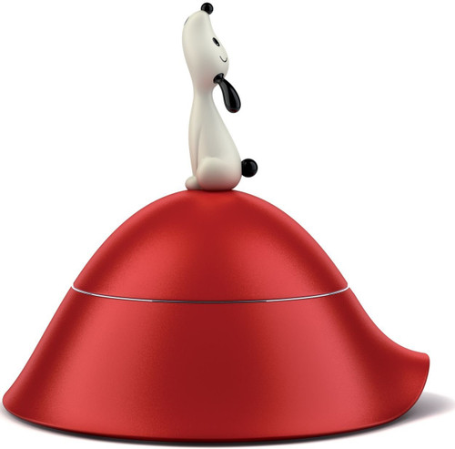 Alessi Lula Dog Bowl with Lid, Red