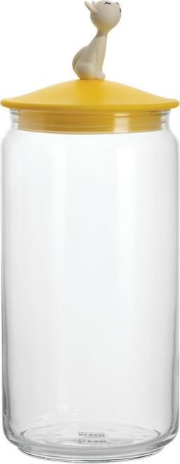 Miriam Mirri 51.5 Oz. Miòjar Jar for Cat Food Color: Yellow