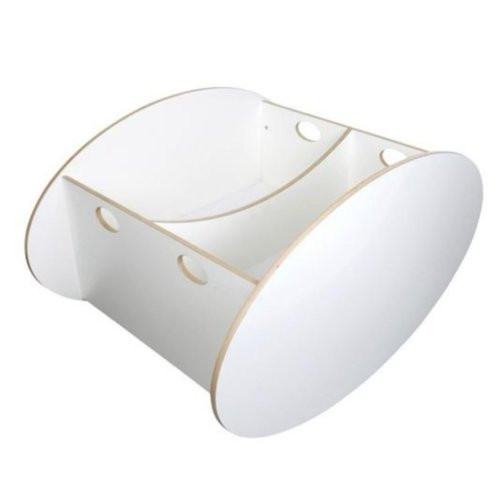 BabyHome So-Ro Cradle Stylish Soothing Infant Rocker, White, Twin