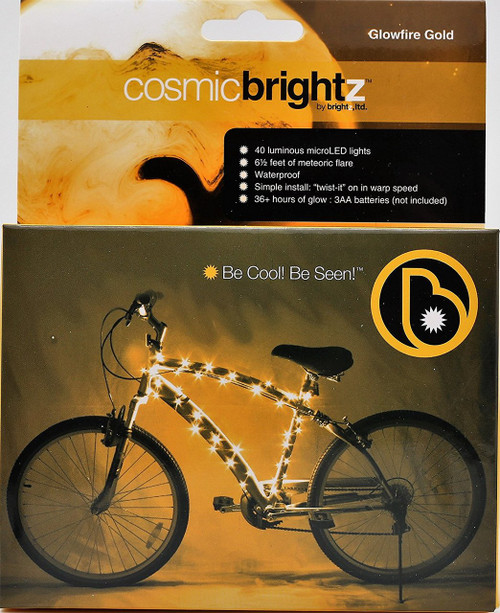 Brightz, Ltd. Gold Cosmic Brightz LED Bicycle Frame Light