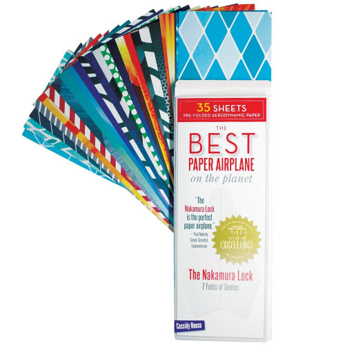 Best Paper Airplane On The Planet Kit - Book & Stylized Aerodynamic Paper