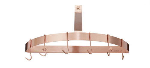 Cuisinart CRHC-22PCP Chef's Classic Half-Circle Wall-Mount Pot Rack, Polished Copper