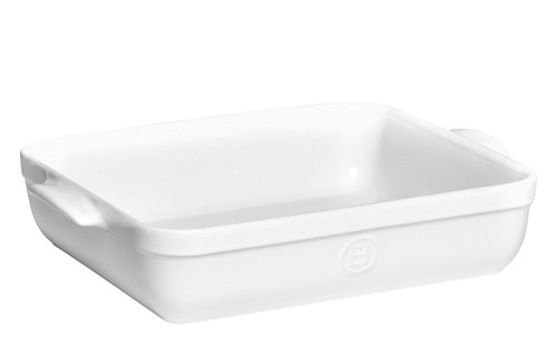 Emile Henry 16.7 by 11-Inch Roaster, Flour White