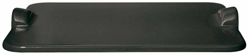 """Emile Henry Flame BBQ Rectangular Grilling Baking Stone, 18 x 14"""", Charcoal"""