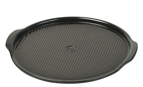 """Emile Henry Flame Pizza Stone, 14.6 x 14.6"""", Charcoal"""