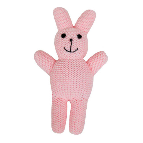 Estella Baby Rattle Toy, Straight Bunny, Pink
