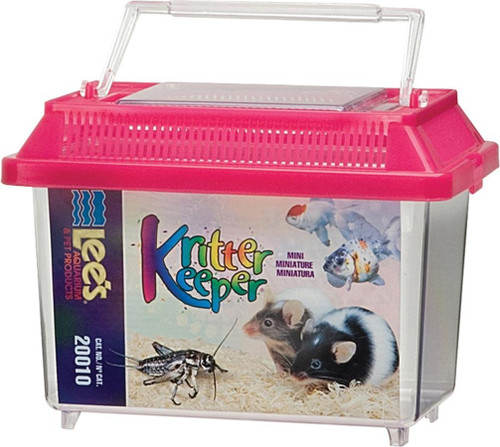 Lee's Kritter Keeper, Mini Rectangle w/Lid ( Colors May Vary )