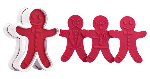 Tovolo GingerBoy Cookie Cutter, Red