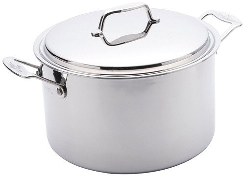 USA Pan 1520CW 8 Qt Stock Pot with Cover, Silver, 8-Qt Stock Pot