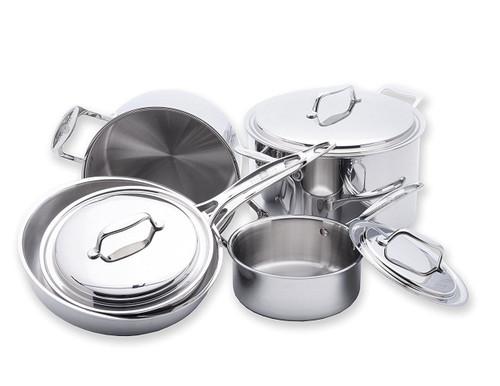 """USA Pan Cookware Set Ð 7"""" Sauce Pan, Steel (8-Piece)"""