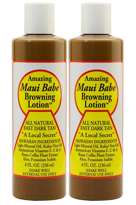 Maui Babe Browning Lotion 8 Ounces (Pack of 2)