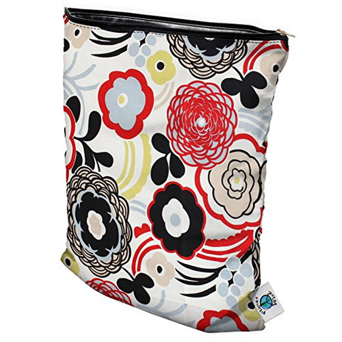 Planet Wise Wet Diaper Bag, Art Deco, Medium