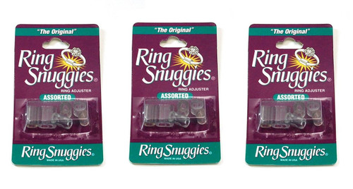 3 X Ring Snuggies - The Original Ring Adjusters - Assorted Sizes