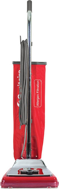 """Sanitaire SC888K Commercial CRI Approved Upright Vacuum Cleaner with Disposal Bag and 7 Amp Motor, 12"""" Cleaning Path"""