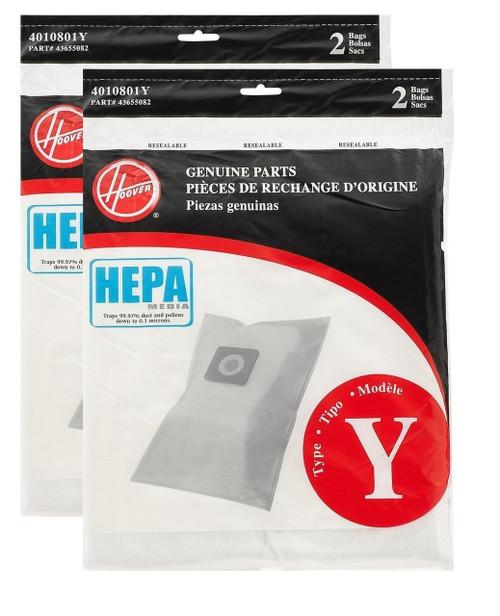 Hoover Type Y HEPA Filter Bag, Set of 4 Bags