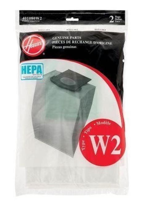 Hoover Type W2 HEPA Bag (6-Pack), 401080W2