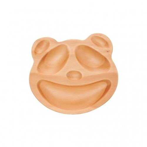 Petits Et Maman Kids' Wood Plate, Panda