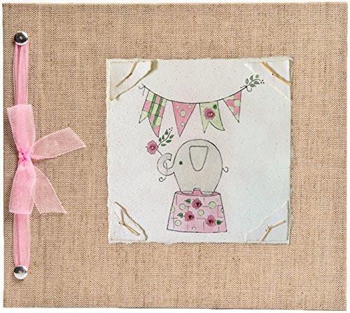 Hugs and Kisses XO Elephant - Pink Baby Memory Book