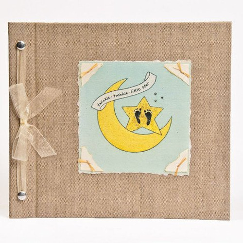 Hugs and Kisses XO Baby Memory Book: MOON AND STAR Unisex Baby Album from Birth to 5 Years