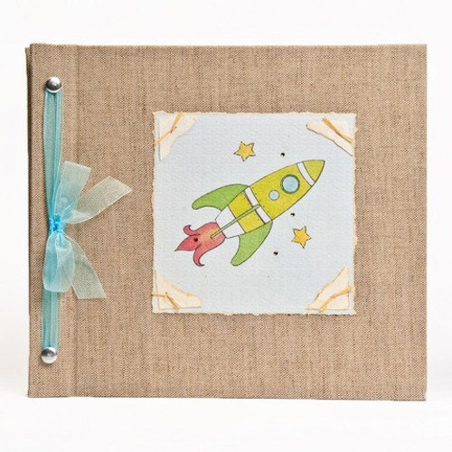 Hugs and Kisses XO Baby Memory Book: ROCKET Boy Baby Album from Birth to 5 Years