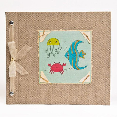 Baby Book - Baby Memory Book - Neutral, Unisex, Under the Sea, Baby Album - Under the Sea Baby Memory Book - Hugs and Kisses XO UNDER THE SEA Baby Memory Book