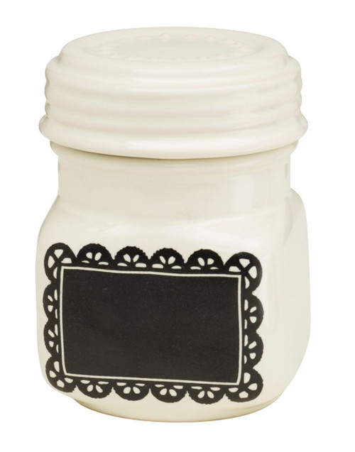 Ore Originals Living Goods Chalk-A-Doodle Ceramic Mini Jar (Discontinued by Manufacturer)