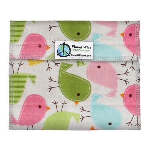 Planet Wise Sandwich and Snack Bags, Chickadees
