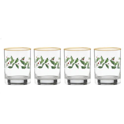 Lenox Holiday DOF Glasses, Set of 4