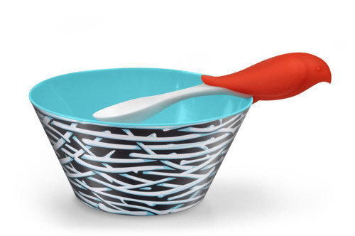 Fred & Friends BIRD FEED Kids' Bowl and Spoon Set