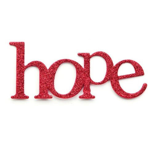 Embellish Your Story Red Glittered Hope Magnet - Embellish Your Story Roeda 18931-EMB