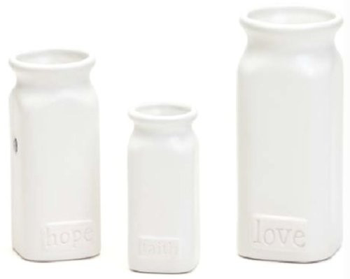 Embellish Your Story Faith, Hope And Love Vases - Set of 3 Assorted - Embellish Your Story Roeda 13705-EMB