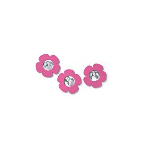 DEMDACO Metal Magnet 3-Pack Photo Holder 17491 - Pink Flowers