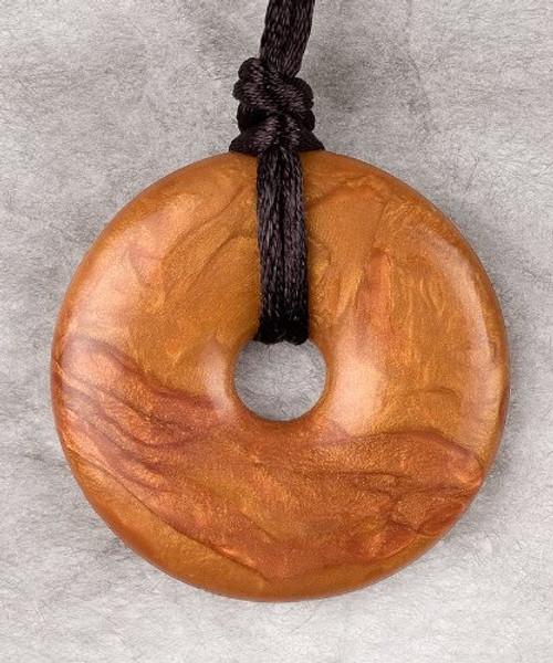 Teething Bling Bronze Donut Pendant