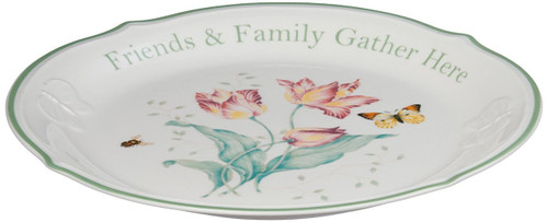 "Lenox Butterfly Meadow ""Friends & Family Gather Here"" 12"" Platter"