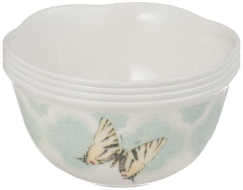 Lenox Butterfly Meadow Trellis Dessert Bowl (Set of 4), White
