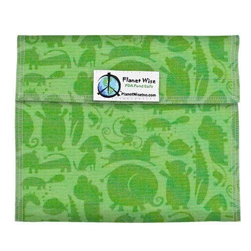 Planet Wise Sandwich and Snack Bags, Green Animals