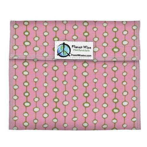Planet Wise Sandwich and Snack Bags, Pink Olives