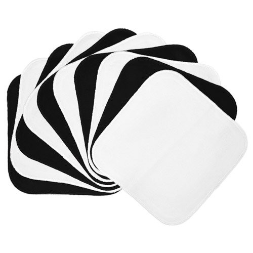 Planet Wise Flannel Wipes, Black/White