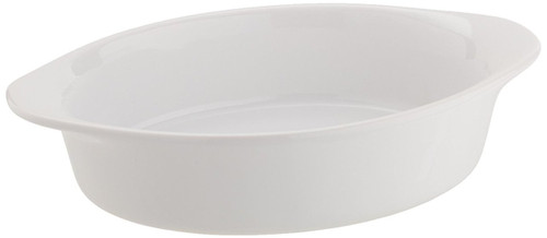 Mario Batali by Dansk Stoneware 8.5-Inch Oval Au Gratin, White