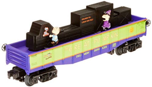 Lionel Trains Peanuts Animated Trick or Treat Chase Gondola Car
