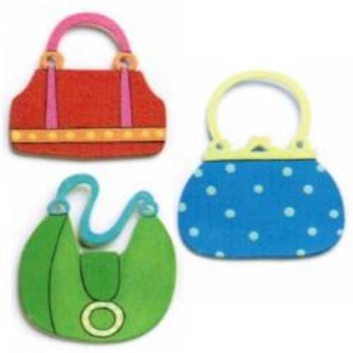 Embellish Your Story Handbag Magnets - Set of 3 Assorted - Embellish Your Story Roeda 18979-EMB