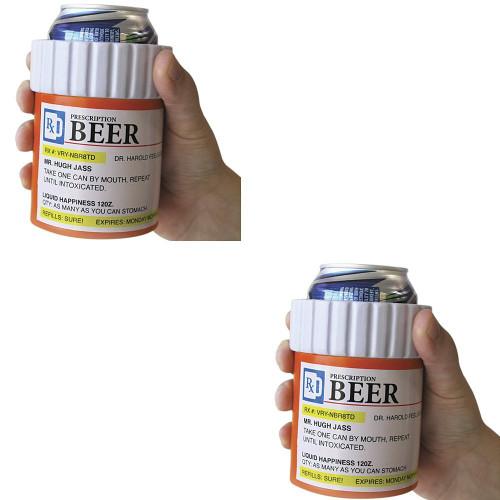 RX Prescription Beer Kool Kooler - Novelty Beverage Cooler (Set Of 2)