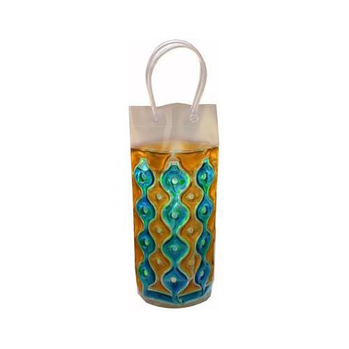 Wave 1C Blue-Gold - Freezable Chill It Bottle Bag