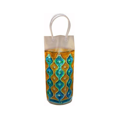 Wave 1C Blue-Gold - Freezable Chill It Bottle Bag