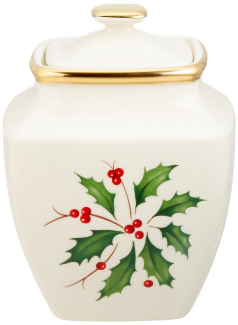 Lenox Holiday Sugar Bowl, Square