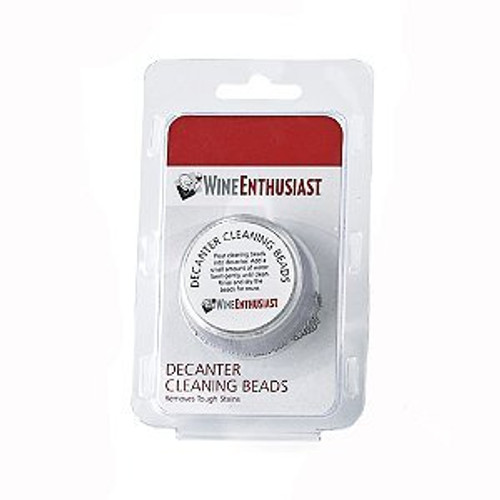 Wine Enthusiast Cleaning Beads Decanter, Silver